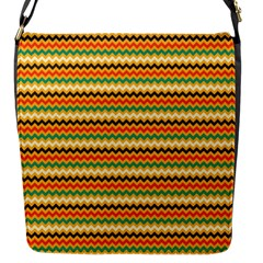 Striped Pictures Flap Messenger Bag (s)