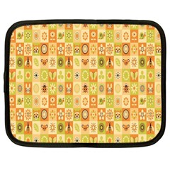 Texture Background Stripes Color Animals Netbook Case (xl)