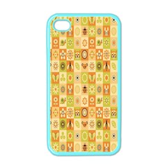Texture Background Stripes Color Animals Apple Iphone 4 Case (color) by AnjaniArt