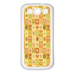 Texture Background Stripes Color Animals Samsung Galaxy S3 Back Case (white)