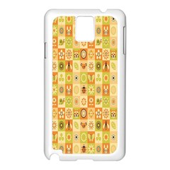 Texture Background Stripes Color Animals Samsung Galaxy Note 3 N9005 Case (white) by AnjaniArt