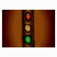 Traffic Light Green Red Yellow Large Glasses Cloth by AnjaniArt