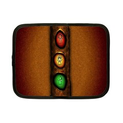 Traffic Light Green Red Yellow Netbook Case (small)