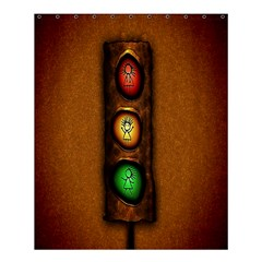 Traffic Light Green Red Yellow Shower Curtain 60  X 72  (medium)  by AnjaniArt