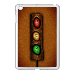 Traffic Light Green Red Yellow Apple Ipad Mini Case (white) by AnjaniArt