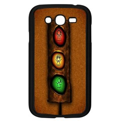 Traffic Light Green Red Yellow Samsung Galaxy Grand Duos I9082 Case (black) by AnjaniArt