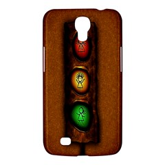 Traffic Light Green Red Yellow Samsung Galaxy Mega 6 3  I9200 Hardshell Case by AnjaniArt