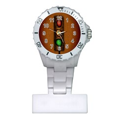 Traffic Light Green Red Yellow Plastic Nurses Watch
