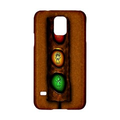 Traffic Light Green Red Yellow Samsung Galaxy S5 Hardshell Case