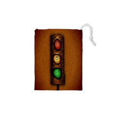 Traffic Light Green Red Yellow Drawstring Pouches (xs)  by AnjaniArt