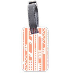 Tribal Pattern Luggage Tags (one Side)