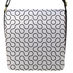 Truchet Tiling Flap Messenger Bag (s)