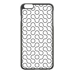 Truchet Tiling Apple Iphone 6 Plus/6s Plus Black Enamel Case