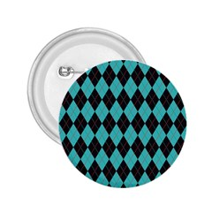 Tumblr Static Argyle Pattern Blue Black 2 25  Buttons by AnjaniArt