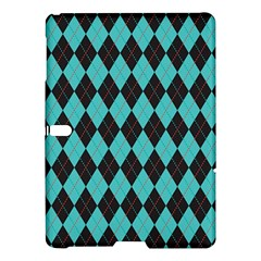 Tumblr Static Argyle Pattern Blue Black Samsung Galaxy Tab S (10 5 ) Hardshell Case