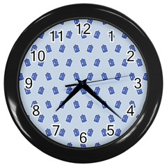 Tumblr Cute Tardis Wall Clocks (black) by AnjaniArt