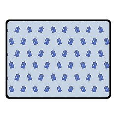 Tumblr Cute Tardis Fleece Blanket (small) by AnjaniArt