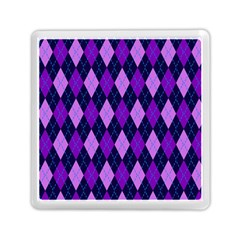 Tumblr Static Argyle Pattern Blue Purple Memory Card Reader (square)