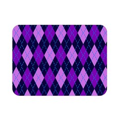 Tumblr Static Argyle Pattern Blue Purple Double Sided Flano Blanket (mini)