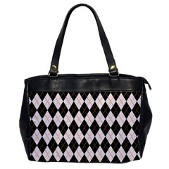 Tumblr Static Argyle Pattern Gray Brown Office Handbags