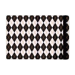 Tumblr Static Argyle Pattern Gray Brown Apple Ipad Mini Flip Case by AnjaniArt