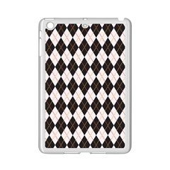 Tumblr Static Argyle Pattern Gray Brown Ipad Mini 2 Enamel Coated Cases