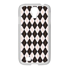 Tumblr Static Argyle Pattern Gray Brown Samsung Galaxy S4 I9500/ I9505 Case (white)