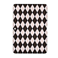 Tumblr Static Argyle Pattern Gray Brown Samsung Galaxy Tab 2 (10 1 ) P5100 Hardshell Case  by AnjaniArt