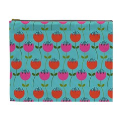 Tulips Floral Flower Cosmetic Bag (xl)