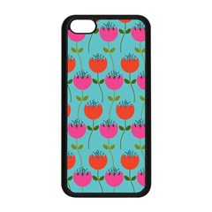 Tulips Floral Flower Apple Iphone 5c Seamless Case (black)