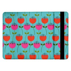 Tulips Floral Flower Samsung Galaxy Tab Pro 12 2  Flip Case by AnjaniArt