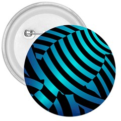 Turtle Swimming Black Blue Sea 3  Buttons by AnjaniArt