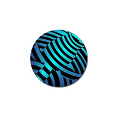 Turtle Swimming Black Blue Sea Golf Ball Marker (4 Pack) by AnjaniArt