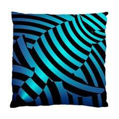 Turtle Swimming Black Blue Sea Standard Cushion Case (two Sides) by AnjaniArt