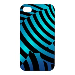 Turtle Swimming Black Blue Sea Apple Iphone 4/4s Premium Hardshell Case