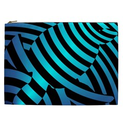 Turtle Swimming Black Blue Sea Cosmetic Bag (xxl)  by AnjaniArt
