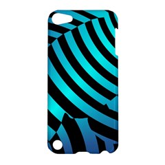 Turtle Swimming Black Blue Sea Apple Ipod Touch 5 Hardshell Case by AnjaniArt
