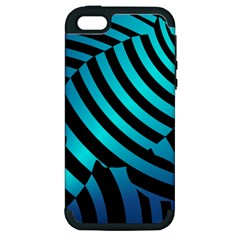 Turtle Swimming Black Blue Sea Apple Iphone 5 Hardshell Case (pc+silicone) by AnjaniArt