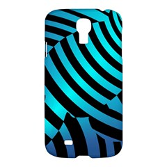 Turtle Swimming Black Blue Sea Samsung Galaxy S4 I9500/i9505 Hardshell Case by AnjaniArt