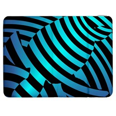 Turtle Swimming Black Blue Sea Samsung Galaxy Tab 7  P1000 Flip Case by AnjaniArt