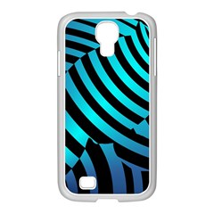 Turtle Swimming Black Blue Sea Samsung Galaxy S4 I9500/ I9505 Case (white) by AnjaniArt