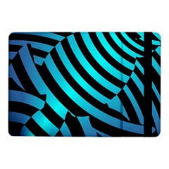 Turtle Swimming Black Blue Sea Samsung Galaxy Tab Pro 10 1  Flip Case by AnjaniArt