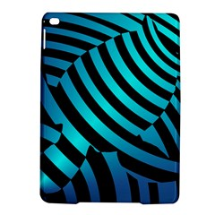 Turtle Swimming Black Blue Sea Ipad Air 2 Hardshell Cases by AnjaniArt