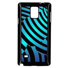 Turtle Swimming Black Blue Sea Samsung Galaxy Note 4 Case (black) by AnjaniArt