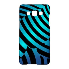 Turtle Swimming Black Blue Sea Samsung Galaxy A5 Hardshell Case  by AnjaniArt