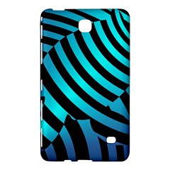 Turtle Swimming Black Blue Sea Samsung Galaxy Tab 4 (8 ) Hardshell Case  by AnjaniArt
