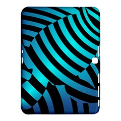Turtle Swimming Black Blue Sea Samsung Galaxy Tab 4 (10 1 ) Hardshell Case  by AnjaniArt