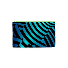 Turtle Swimming Black Blue Sea Cosmetic Bag (xs) by AnjaniArt