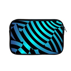 Turtle Swimming Black Blue Sea Apple Macbook Pro 13  Zipper Case by AnjaniArt
