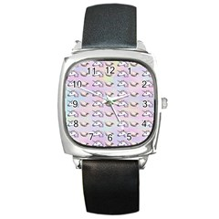 Tumblr Unicorns Square Metal Watch